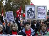 Manifestantes en las Marchas de la Dignidad