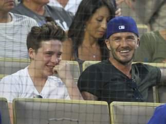 David Beckham y su hijo