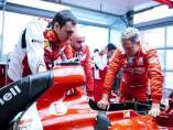 Vettel, con el equipo Ferrari.