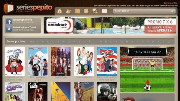 Captura de pantalla de la web seriespepito.com