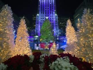 Encienden el �rbol de Navidad del Rockefeller Center
