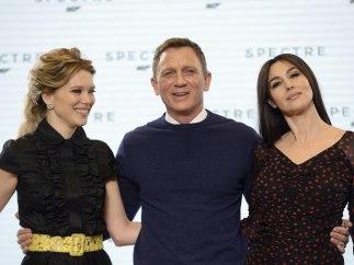 Monica Bellucci, Lea Seydoux y Daniel Craig