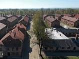 Vista aérea del Museo de Auschwitz