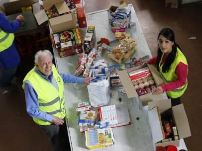 Voluntarios del Banco de Alimentos de Madrid