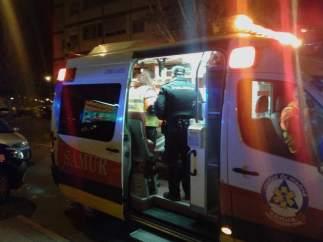 Ambulancia y policía