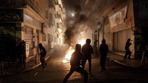 Barricadas en Atenas