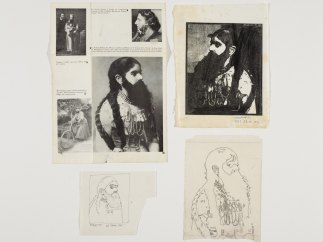 Working Proof 2. 'Bearded Lady', from the Side-Show portfolio
