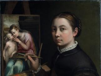 Sofonisba Anguissola, Self-Portrait at the Easel, 1556