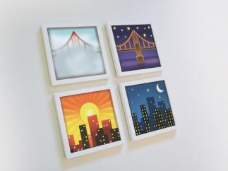 'Emoji Frames. City Series'