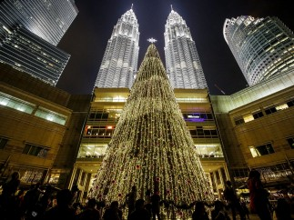 Navidad en las Torres Petronas