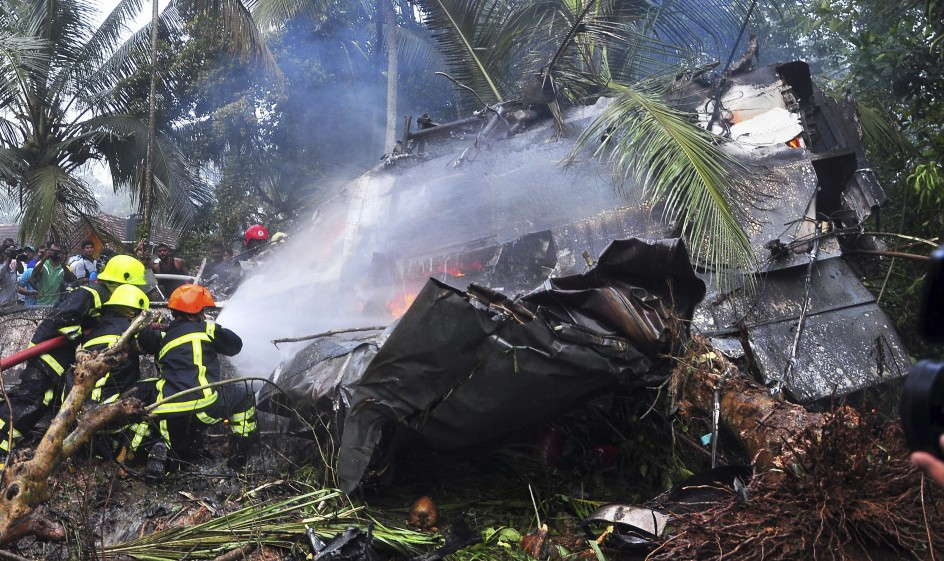 Accidente aéreo en Sri Lanka