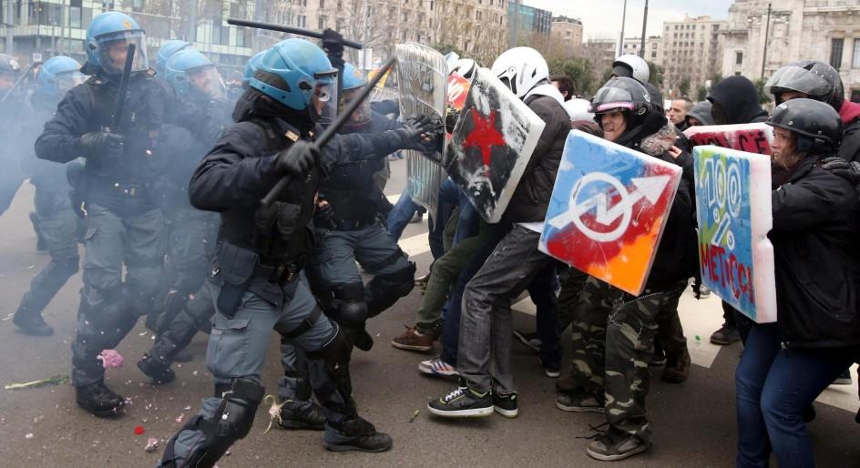 Huelga general en Italia