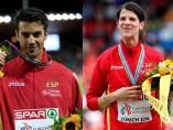 Miguel Ángel López y Ruth Beitia, los mejores atletas de 2014