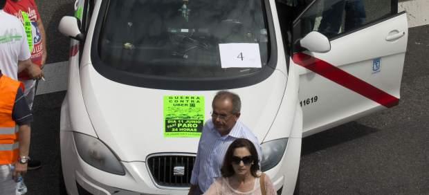 Protesta contra Uber