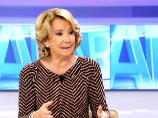 La ex presidenta de la Comunidad de Madrid Esperanza Aguirre