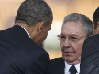 Obama y Ra�l Castro