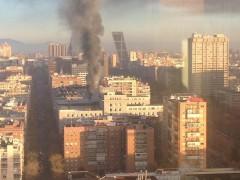 Incendio en el ministerio de Defensa