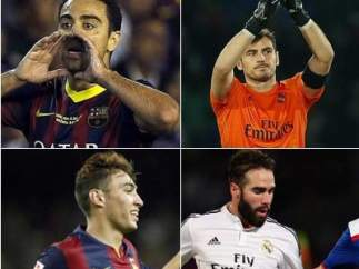 Xavi, Casillas, Munir y Carvajal