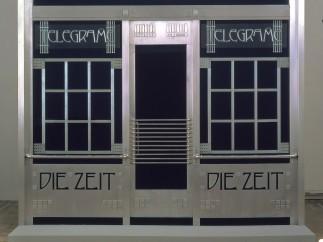 Otto Wagner, portal of the telegram office of Die Zeit (reconstruction by Adolf Krischanitz and Otto Kapfinger), 1902/1985