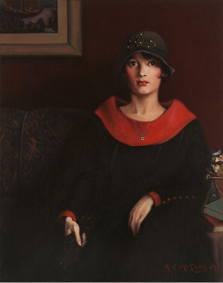 Archibald J. Motley Jr. -  Octoroon Girl, 1925. 'Octoroon Girl', uno de los retratos más afamados de Motley, representa a una chica que tiene un octavo de ascendencia negra