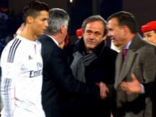 Cristiano Ronaldo y Platini