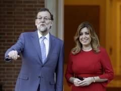 Mariano Rajoy (izda.) y Susana D�az