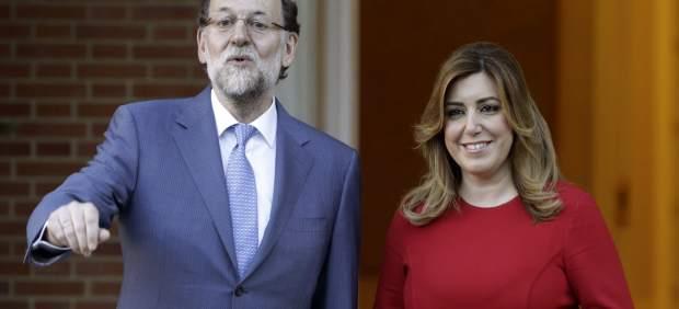 Mariano Rajoy (izda.) y Susana Díaz