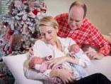 Alberto y Charlene de Mónaco con sus hijos