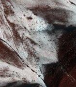 Laderas heladas en Marte
