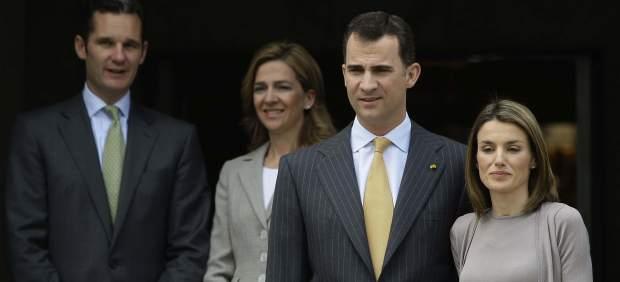 Felipe de Borbón, Letizia Ortiz, Cristina de Borbón y Urdangarín