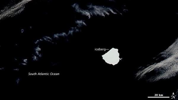 Un iceberg del tamaño de Valencia vaga por el Atlántico Sur