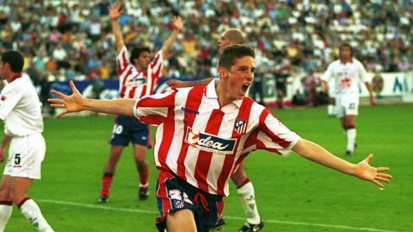 El primer gol en el primer equipo del Atlético
