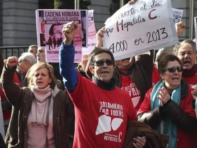 Protesta ante Sanidad
