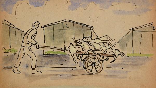 Germano Facetti, Taccuino di disegni realizzati durante il periodo di prigionia nel campo di Gusen, 1944-1945
