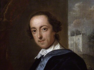 Horace Walpole. Portrait by John Giles Eccardt 1754 on display in Terror and Wonder