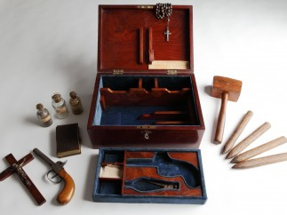 Vampire Hunting Kit Victorian on display in Terror and Wonder