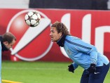 Cerci, durante un entrenamiento con el Atlético de Madrid
