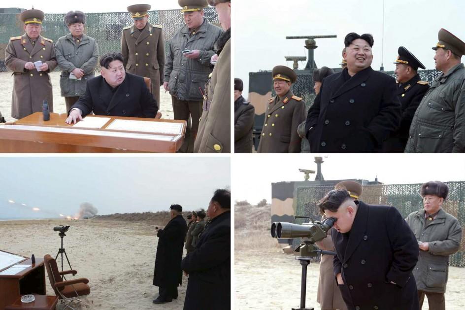 Kim Jong-un visita una prácticas de disparo