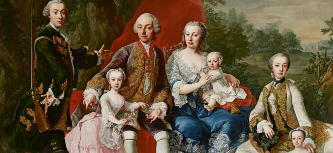 Martin van Meytens Yr., The Family of Count Nikolaus Pálffy of Erdöd, around 1760