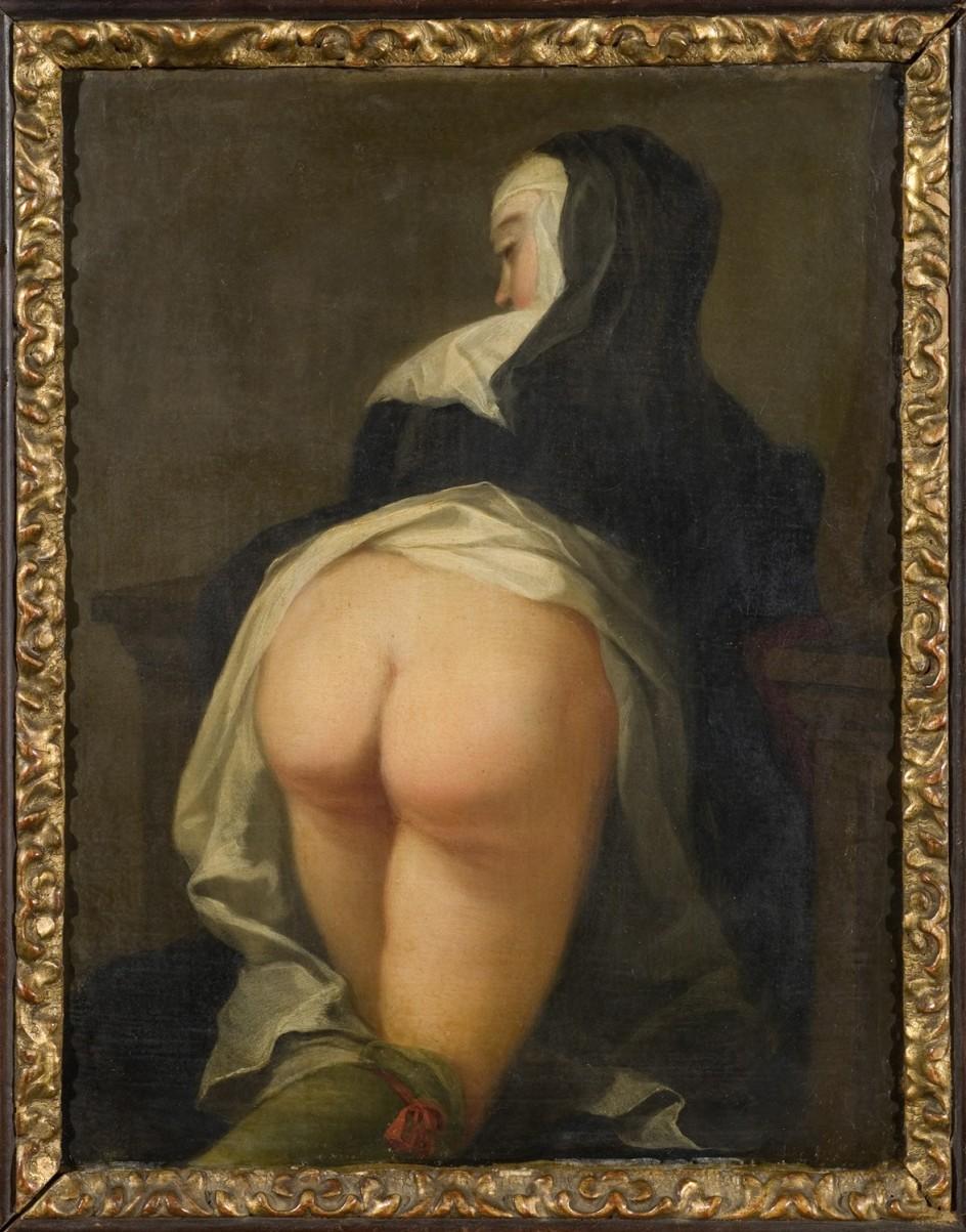 Martin van Meytens Yr., Kneeling Nun (Back side), about 1731