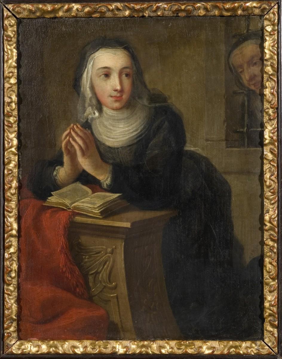 Martin van Meytens Yr., Kneeling Nun (Front side), about 1731. La 'Monja arrodillada' de Van Meytens