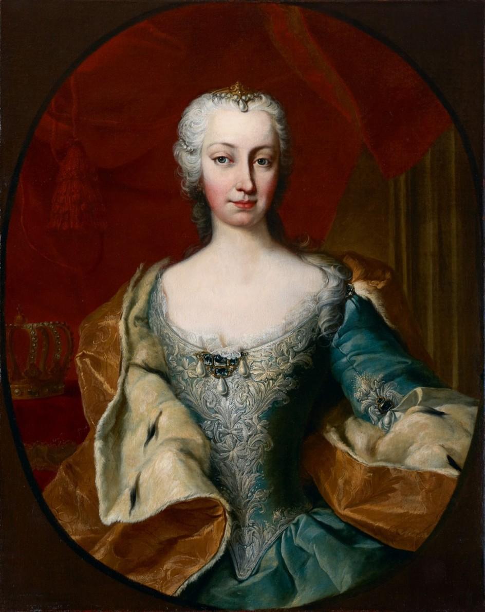 Martin van Meytens Yr., Maria Theresia as Archduchess, in the mid-1730. María Teresa de Austria retratada por el pintor real Martin van Meytens