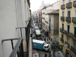 Atasco de tráfico en el centro de Madrid