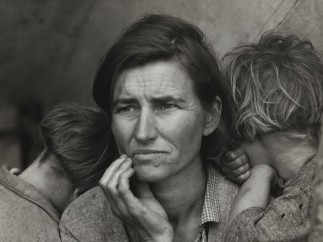 Dorothea Lange (American, 1895–1965). Destitute pea pickers in California. Mother of seven children. Age thirty-two. Nipomo, California. (Migrant Mother), 1936