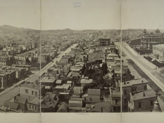 Eadweard J. Muybridge, Panorama of San Francisco taken from the tower of the house of Mrs. Mark Hopkins, ca. 1877