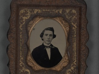 Ambrotype of unidentified man (possibly Mr. Landt), ca. 1861–62