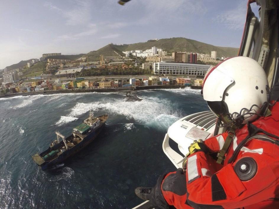 Pesquero chino que encalló en Las Palmas