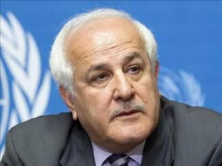 El representante palestino ante la ONU, Riyad Mansour