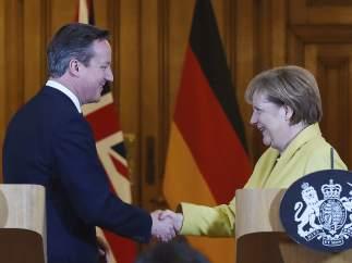 Angela Merkel y David Cameron