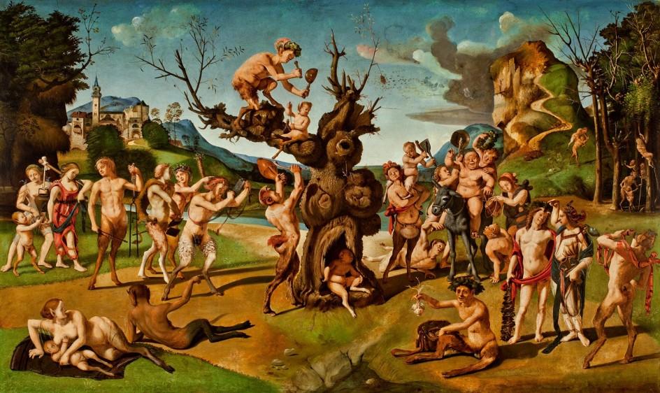 El descubrimiento de la miel - Piero di Cosimo, c. 1500 - Worcester Art Museum, Worcester, Massachusetts